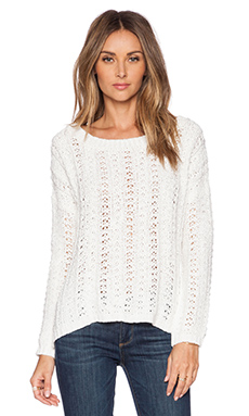 SUSS Maddie Boatneck Pullover Sweater in White