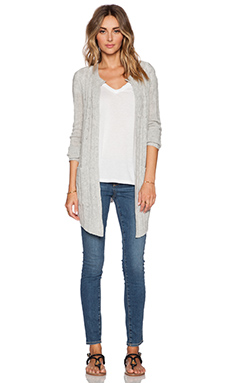 SUSS Ellie Cable Cardigan in Grey