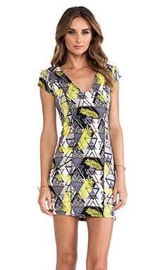 Tallow Neon Blonde Dress in Trop