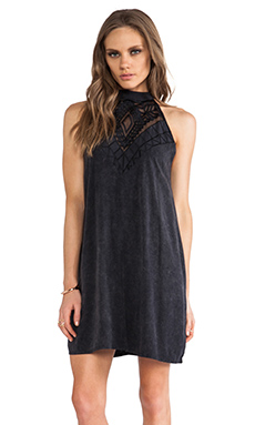 Tallow Pop Pier Dress in Black