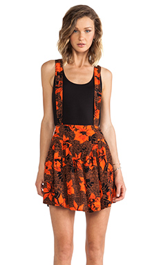 Tallow Mudhoney Overall Skirt in Floral