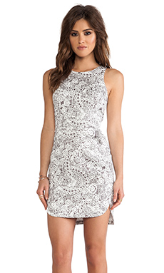 Talulah Sky Spirits Mini Dress in Lace Print