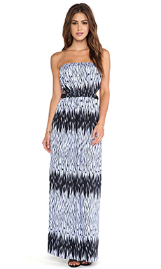T-Bags LosAngeles Strapless Maxi Dress in Feathered Purple