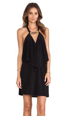 T-Bags LosAngeles Halter Cutout Mini Dress in Black