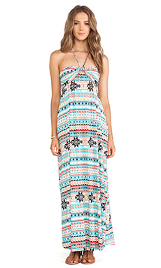 T-Bags LosAngeles Strapless Maxi Dress in Cool Tribal Print