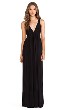 T-Bags LosAngeles Tie Back Maxi Dress in Black