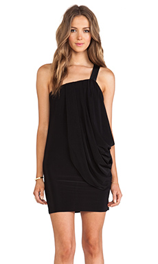 T-Bags LosAngeles One Shoulder Mini Dress in Black