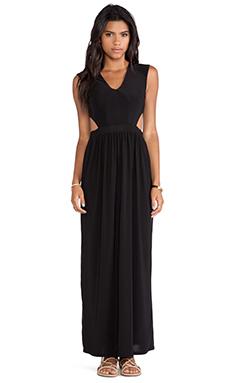 T-Bags LosAngeles Side Cut Out Maxi Dress in Black