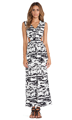 T-Bags LosAngeles Side Cut Out Maxi Dress in Marble