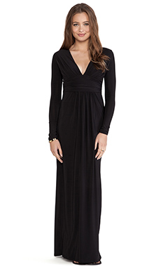 T-Bags LosAngeles Long Sleeve Maxi Dress in Black