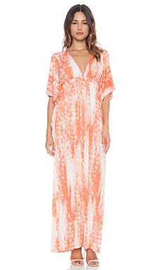 T-Bags LosAngeles Open Shoulder Maxi Dress in Orange Splash