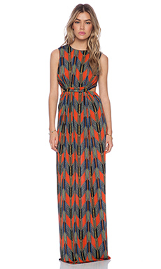 T-Bags LosAngeles Cut Out Maxi Dress in Arrow Print