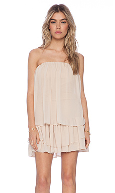 T-Bags LosAngeles Strapless Mini Dress in Stone