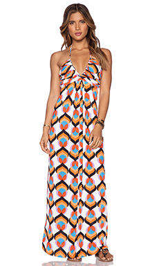 T-Bags LosAngeles Braided Maxi Dress in Neon Kaleidoscope