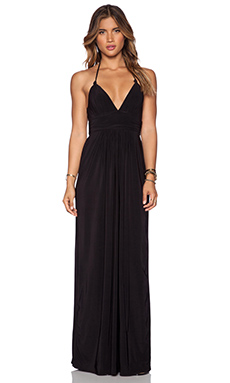 T-Bags LosAngeles X Back Maxi Dress in Black
