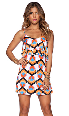 T-Bags LosAngeles Flounce Dress in Neon Kaleidoscope