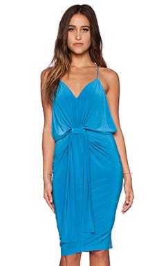 T-Bags LosAngeles Tie Front Dress in Pool Blue