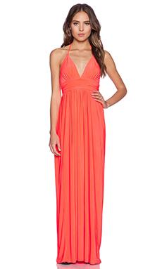 T-Bags LosAngeles X Back Maxi Dress in Neon Orange