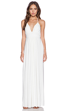 T-Bags LosAngeles X Back Maxi Dress in White