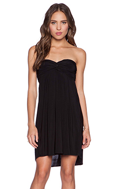 T-Bags LosAngeles Braided Back Dress in Black