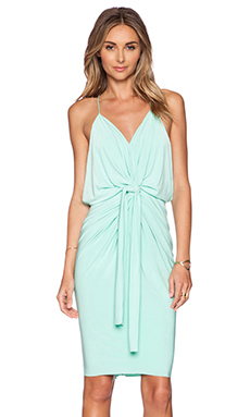 T-Bags LosAngeles Tie Front Mini Dress in Mint