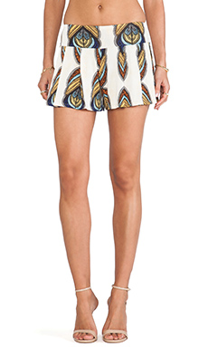 T-Bags LosAngeles Printed Shorts in Ivory Feather