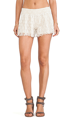 T-Bags LosAngeles Lace Shorts in Natural