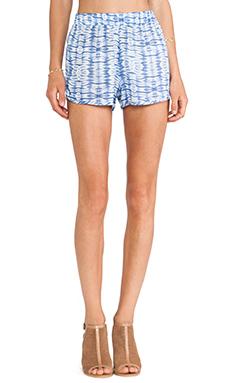 T-Bags LosAngeles Dolphin Hem Shorts in Blue Tie Dye