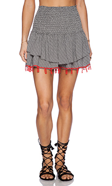 T-Bags LosAngeles Mini Skirt in Black & White Geo
