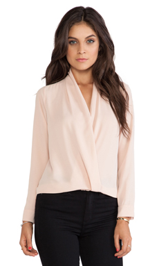 T-Bags LosAngeles Cross Front Blouse in Blush