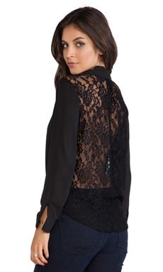 T-Bags LosAngeles Lace Back Blouse in Black