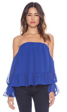 T-Bags LosAngeles Strapless Chiffon Top in Royal
