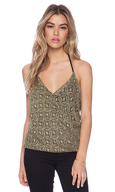 T-Bags LosAngeles Lace Tank in Gold