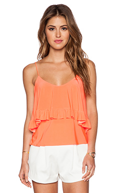 T-Bags LosAngeles Flounce Tank in Neon Coral