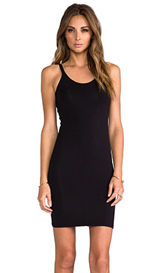 T by Alexander Wang Modal Spandex Cami Tank Dress in Black