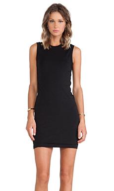 T by Alexander Wang Mohair Twist Dress in Black