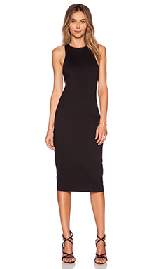 T by Alexander Wang Lux Bandeau Back Dress in Black