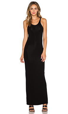 T by Alexander Wang Long Tank Dress in Black
