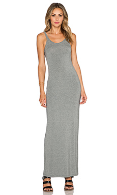 T by Alexander Wang Long Tank Dress in Heather Grey