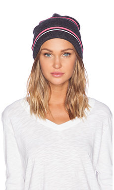 T by Alexander Wang Stripe Beanie in Charcoal