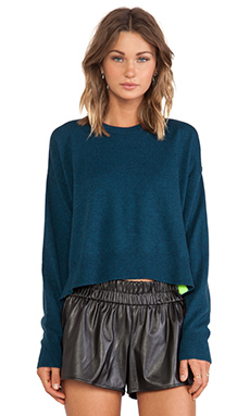 T by Alexander Wang Pop Accent Pullover in Shadow