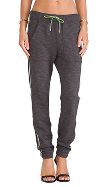 T by Alexander Wang Stripe Sweatpant in Charcoal
