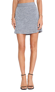 T by Alexander Wang A-Line Mini Skirt in Black/White
