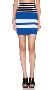 T by Alexander Wang Engineer Stripe Pencil Skirt in Viper