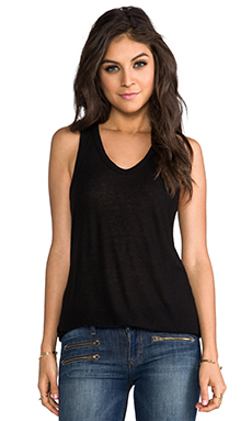 T by Alexander Wang Slub Classic Tank in Black