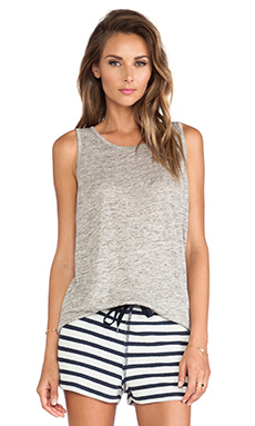T by Alexander Wang Heather Oversized Tank in Light Heather Grey