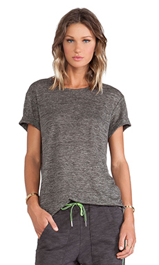 T by Alexander Wang Heather Short Sleeve Tee in Charcoal