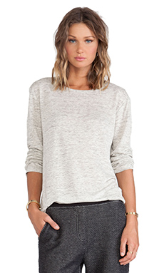 T by Alexander Wang Heather Long Sleeve Tee in Light Heather Grey