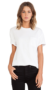 T by Alexander Wang Tee with Pocket in White
