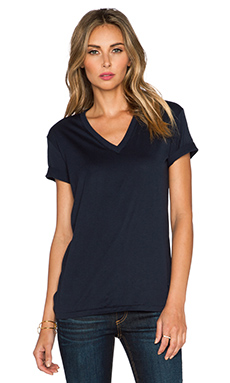 T by Alexander Wang V Neck Tee in Ink
